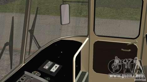 LAZ 699R 93-98 piel 1 para la vista superior GTA San Andreas