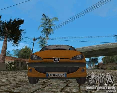 Peugeot 306 para visión interna GTA San Andreas
