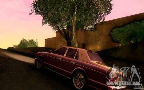 Bentley Arnage R 2005 para GTA San Andreas vista posterior izquierda