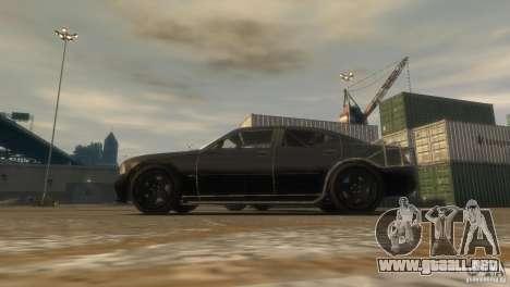 Dodge Charger Fast Five para GTA 4 Vista posterior izquierda