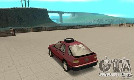 Saab 9000 para GTA San Andreas vista posterior izquierda