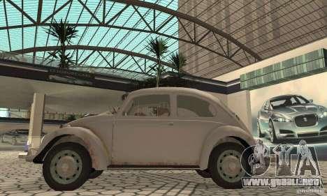 Volkswagen Beetle 1963 para GTA San Andreas vista posterior izquierda