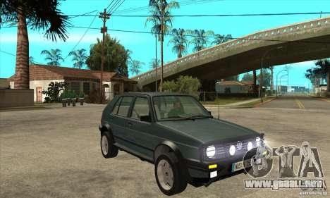 Volkswagen Golf Country MkII Syncro 4x4 1991 para GTA San Andreas vista hacia atrás