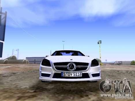 Mercedes-Benz SLK55 AMG 2012 para la vista superior GTA San Andreas