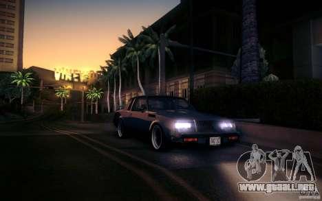 Buick Regal GNX para GTA San Andreas vista hacia atrás