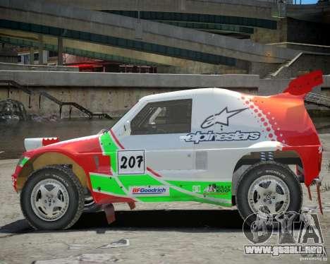 Mitsubishi Pajero Proto Dakar EK86 vinilo 2 para GTA 4 vista hacia atrás