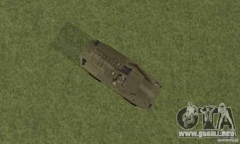 BRDM-1 piel 2 para GTA San Andreas vista hacia atrás