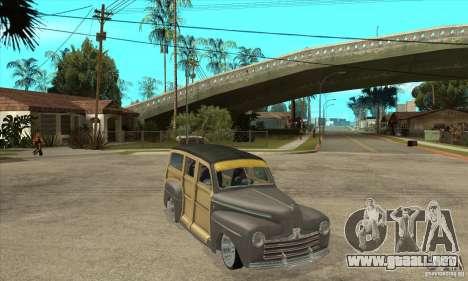 Ford Woody Custom 1946 para GTA San Andreas vista hacia atrás