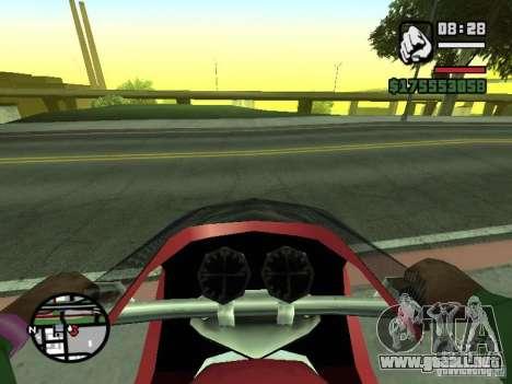 Primera persona (First-Person mod) para GTA San Andreas sucesivamente de pantalla