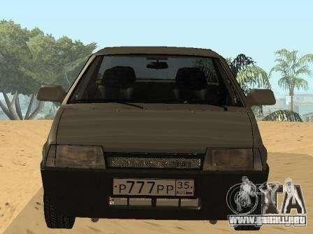 VAZ 21099 verano para la visión correcta GTA San Andreas
