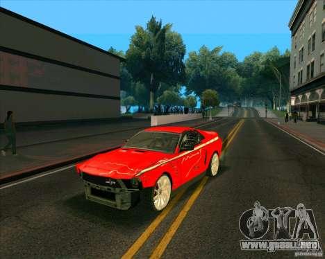 Shelby GT500 para la visión correcta GTA San Andreas