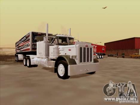 Peterbilt 377 para GTA San Andreas left