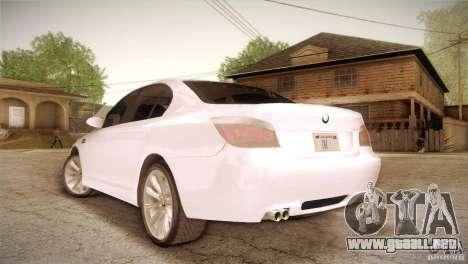 BMW M5 para GTA San Andreas vista posterior izquierda