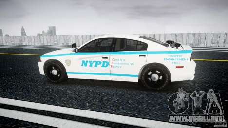 Dodge Charger NYPD 2012 [ELS] para GTA 4 left