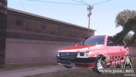 Fiat Uno Mile Fire Original para GTA San Andreas vista posterior izquierda