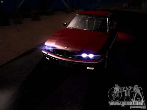 BMW 730i e38 1997 para vista inferior GTA San Andreas