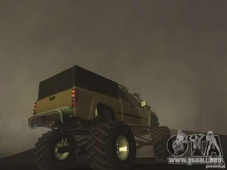 Chevrolet Colorado Monster para GTA San Andreas vista hacia atrás