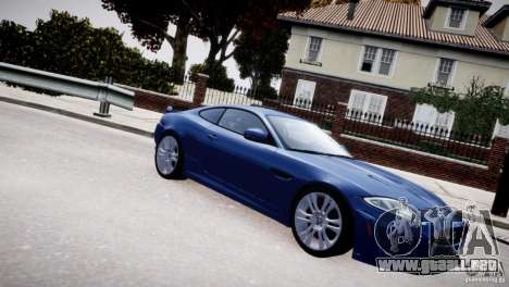 Jaguar XKR-S 2012 para GTA 4 vista superior
