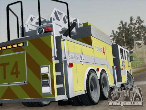 Pierce Arrow XT BCFD Tower Ladder 4 para vista inferior GTA San Andreas