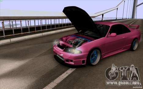 Nissan Skyline GTR 33 Fatlace para GTA San Andreas left