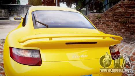 Porsche 911 (997) Turbo v1.0 para GTA 4 vista superior