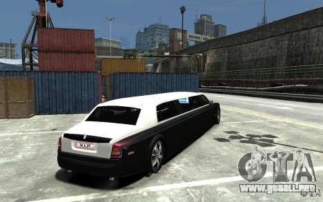 Rolls-Royce Phantom Sapphire Limousine v.1.2 para GTA 4 visión correcta