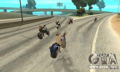 BikersInSa (los moteros en SAN ANDREAS) para GTA San Andreas sexta pantalla