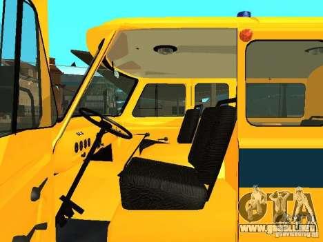 Policía 2206 UAZ para GTA San Andreas vista hacia atrás