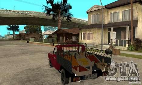 Anadol Pickup para GTA San Andreas vista posterior izquierda