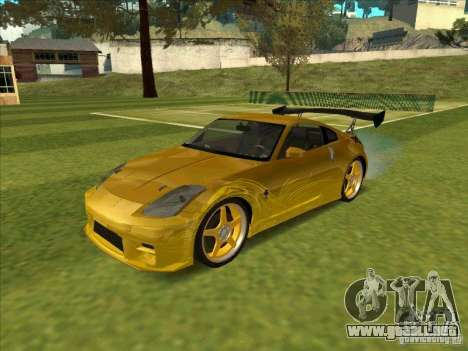 Nissan 350Z MORIMOTO from FnF 3 para GTA San Andreas left