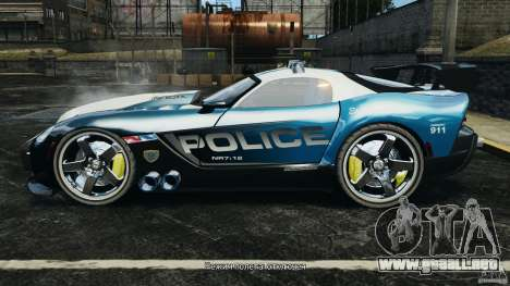 Dodge Viper SRT-10 ACR ELITE POLICE para GTA 4 left
