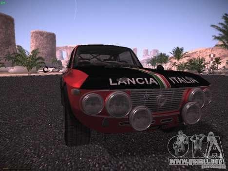 Lancia Fulvia Rally para la visión correcta GTA San Andreas