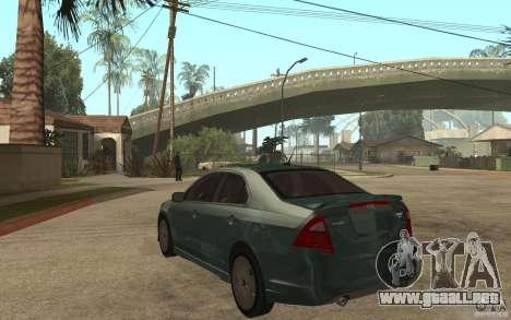 Ford Fusion 2010 para GTA San Andreas vista posterior izquierda