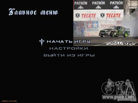 Fórmula menú estilo Drift para GTA San Andreas segunda pantalla