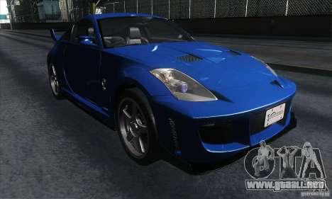 Nissan 350Z Varis para GTA San Andreas vista hacia atrás