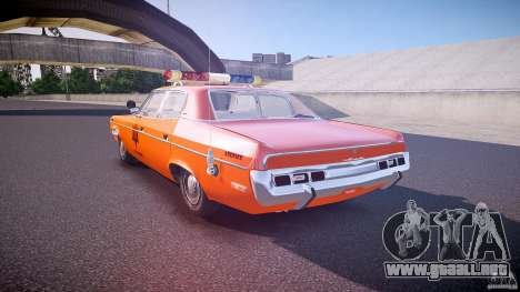 AMC Matador Hazzard County Sheriff [ELS] para GTA 4 Vista posterior izquierda