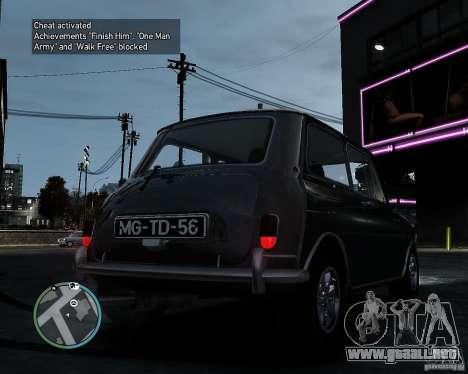 Austin Mini Cooper S para GTA 4 Vista posterior izquierda