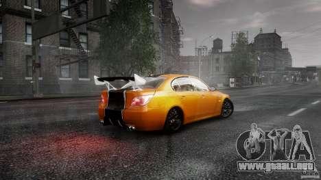 BMW M5 e60 Emre AKIN Edition para GTA 4 Vista posterior izquierda