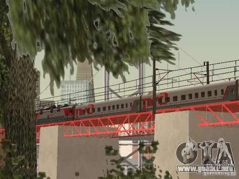 Coche de pasajeros RZD para GTA San Andreas vista posterior izquierda