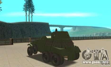 BTR BA-11 para GTA San Andreas vista posterior izquierda