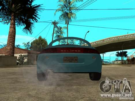 Mitsubishi Eclipse 1998 Need For Speed Carbon para GTA San Andreas vista posterior izquierda