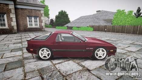 Mazda RX7 FC3S para GTA 4 vista hacia atrás