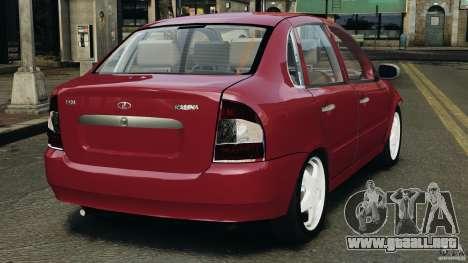 1118-Vaz Kalina v1.1 para GTA 4 Vista posterior izquierda