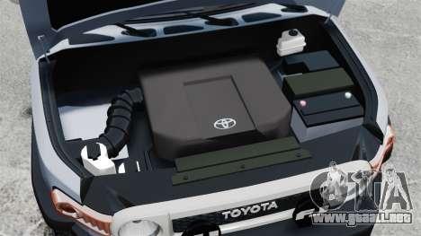 Toyota FJ Cruiser para GTA 4 vista interior