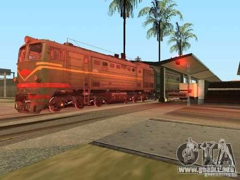 2Te10l locomotora diesel para la visión correcta GTA San Andreas