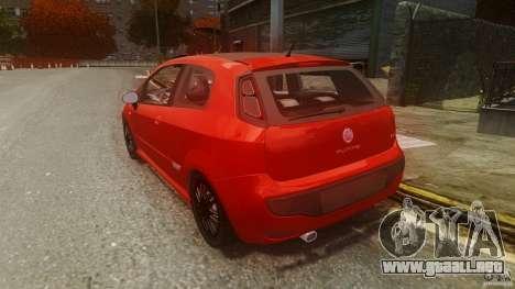 Fiat Punto Evo Sport 2010 para GTA 4 Vista posterior izquierda