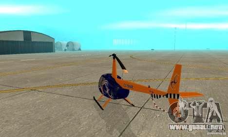 Robinson R44 Raven II NC 1.0 piel 3 para la visión correcta GTA San Andreas