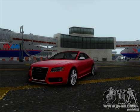 Audi S5 para GTA San Andreas vista posterior izquierda