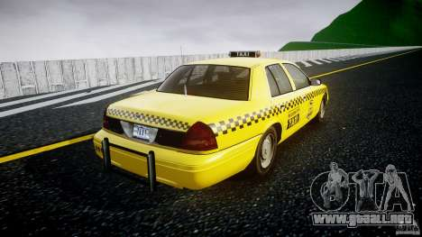 Ford Crown Victoria Raccoon City Taxi para GTA 4 vista interior