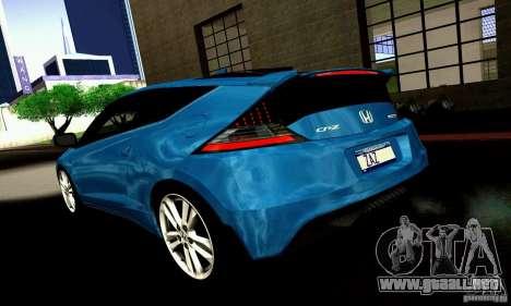 Honda CR-Z 2010 V2.0 para GTA San Andreas vista hacia atrás